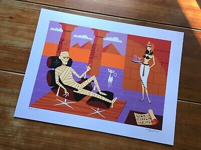 Shag (Josh Agle) Universal Monsters The Mummy Signed Print!! $160 Obo!