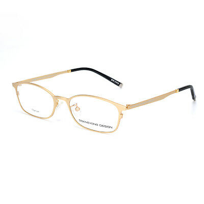 a9738953975 Business Men Pure Titanium Woman Optical Eyeglasses Frame Vintage Myopia  Glasses