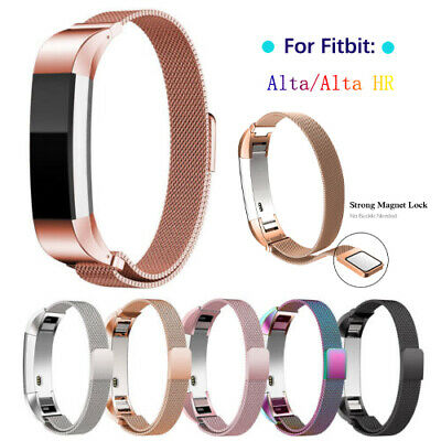 For Fitbit Alta and Alta HR Magnetic Milanese Stainless Steel Watch Band Strap