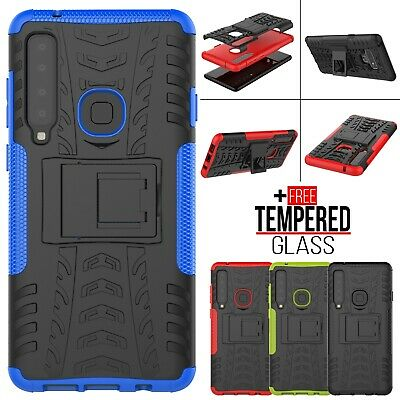 For Samsung Galaxy J4 J6 A6 A7 A9 2018 Armor Shockproof Heavy Case Stand Cover