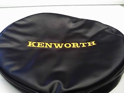 Kenworth Semi Truck Fuel Tank Covers  Set Of 2 Black And Orange Emb. 24 1/2""