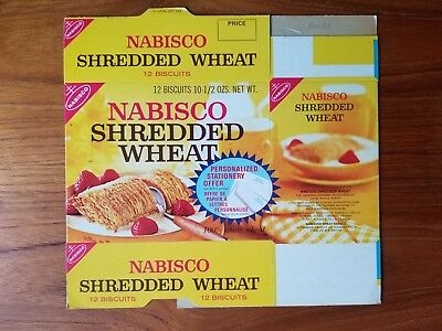 1970's Flat Never Used Nabisco Shredded Wheat Cereal Box