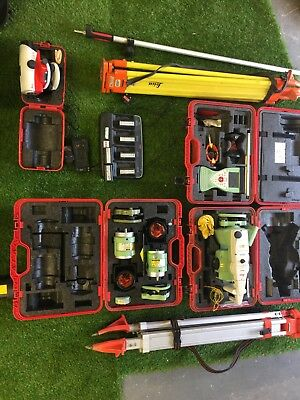 Leica total station surveying equipment
