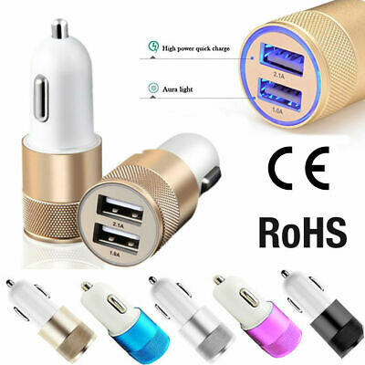 Dual Twin Port USB 12 V Universal Car Cigarette Lighter Charger Adapter 2.1A