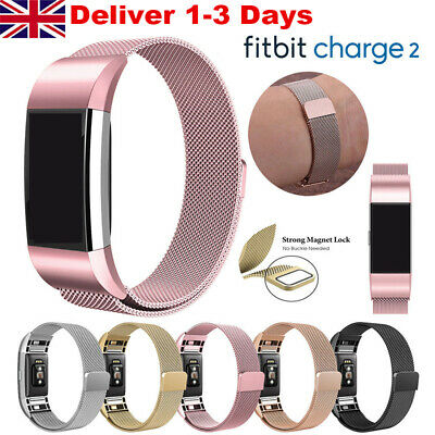 For Fitbit Charge 2 Strap Replacement Milanese Band Stainless Steel Magnet IN UK
