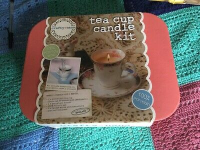 New In Box Tea Cup Candle Making Kit