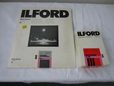 Ilford Multigrade II Photographic Paper Glossy 8x10 and 3½ x5 inches Part used