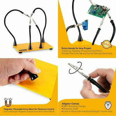 Helping Hands Soldering Third Hand Workbench By Quadhands ~ 4 Magnetic Based Arm