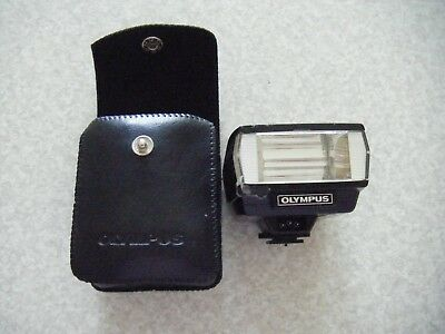 OLYMPUS T20 ELECTRONIC SHOE MOUNT FLASH UNIT WITH SOFT CASE fully operational
