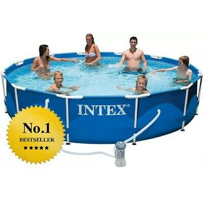 INTEX 26726 457 x 122 PISCINA FUORITERRA ROTONDA METAL FRAMEPRISMA 2019 STRONG