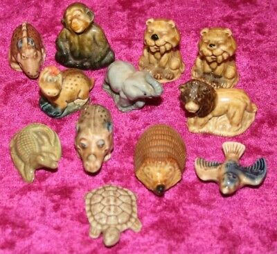 Mixed Job Lot Of 12 Vintage Wade Whimsies From House Clearance.
