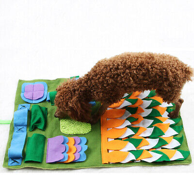 Pet Puzzle Snooping Find Food Training Blanket Mat Dog Sniffing Pad Toys ONE