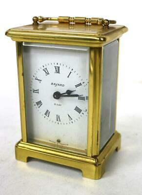 Antique French Bayard 8 Day Bevelled Glass Timepiece Carriage Clock