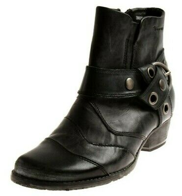 TAMARIS 1 25329 LADIES Biker Boots Leather Shoes Ankle Boots