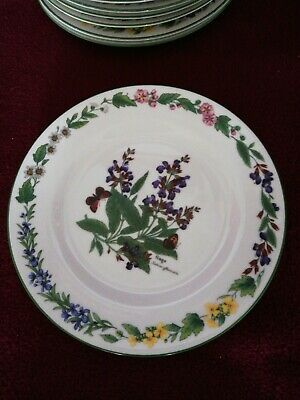 Royal Worcester Herbs : Sage Salad/side Plate 8 Inches