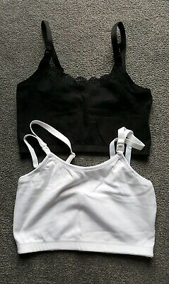 5d0506773e780 NEW 2 x Mothercare Blooming Marvellous Nursing Crop Tops Sleep Bras Size S  8-10