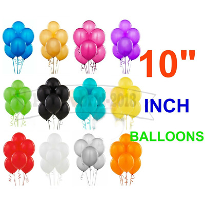 "10"" Latex PLAIN BALOON BALLONS helium BALLOONS Quality Party Birthday Wedding pd"