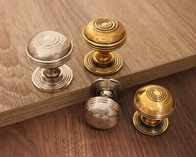 Solid Brass Antique Period Old Style Cabinet knobs Various Finishes/Sizes