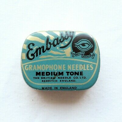 GRAMOPHONE NEEDLE TIN - Embassy - Medium Tone [NEEDLE TIN]
