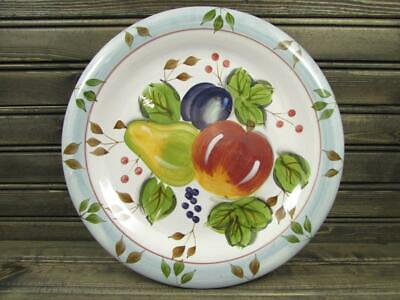 Black Forest Fruits by Heritage Mint Dinner Plate Fruit Center Blue Edge L107