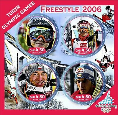 Stamps history of olympics - Turin  2006 Champions  Freestyle