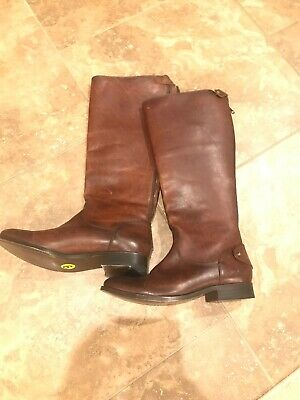 fb72cd76fe5 FRYE Woman s Jayden Buckle Back Zip Riding Boots Size 9 Redwood Tall Knee  NEW