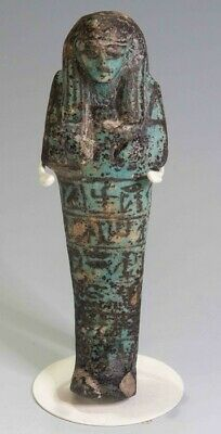 EGYPTIAN SHABTI FOR HUY MUSICIAN FOR HAT-HOR circa 1292 B.C.