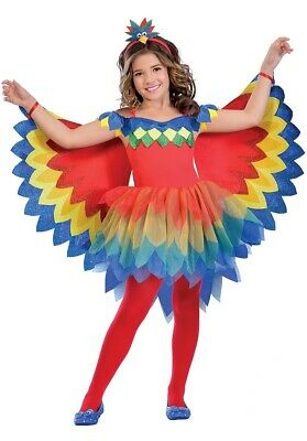 Girls Pretty Parrot Fairy  Book Week Day Costume Tutu Fancy Dress Outfit Kids
