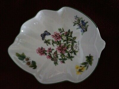 Royal Worcester Herbs : Leaf Shaped Serving Tray 8 X 6.5 Inches