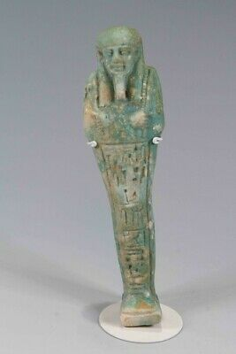 Egyptian Faience Shabti For Ipethemetes Late Dynastic Period, C. 600-300 Bc.