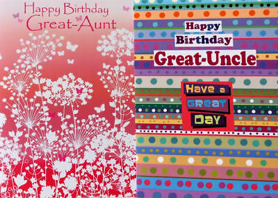 Birthday Card Great Aunt Uncle Blank Inside 7