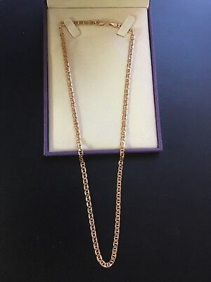 1c278c68024b8 14K ROSE GOLD Chain Real Solid 585 flat Mariner Anchor Style 4mm x 20.5
