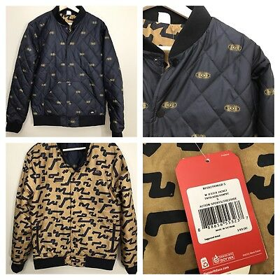 a13c7eb36 MENS THE NORTH Face Jester Bomber Jacket sz Small NWT Reversible Black Gold