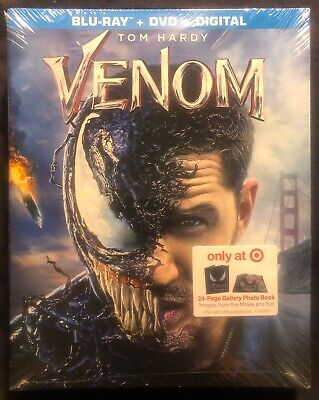Venom + Blu-Ray + Dvd + Digital Code Target Exclusive 24-Page Gallery Book