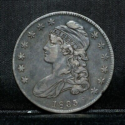 1835 Capped Bust Half Dollar ✪ Xf Extra Fine Details ✪ 50C Silver Rim ◢Trusted◣