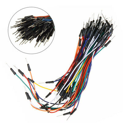 Male to Male Cable Wires Bread Breadboard 65Pcs Board Jumper Leads Lots 65/Set