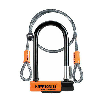 Kryptonite Evolution Mini 7 Bike U Lock & 4 Foot Cable - Sold Secure Silver