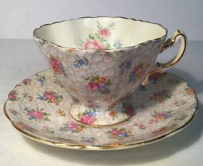 Hammersley Bone China Cup/Saucer Floral  #2-0986