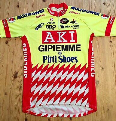 Gipiemme Safi Aki Sidermec Vintage Cycling Jersey Size 6 Very Good Condition fb0a53851