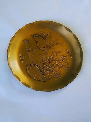 Wendell August Forge Floral & Leaves Handmade Solid Bronze Plate Coaster