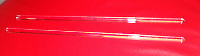 "Lot of 2 Glass Stir Rods- 8"" x 3/16""  - Sticks - Bar Mixing - Lab - Paint"