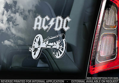 AC/DC - Car Window Sticker - Rock Sign AC DC Angus Young Back in Black ACDC -V03