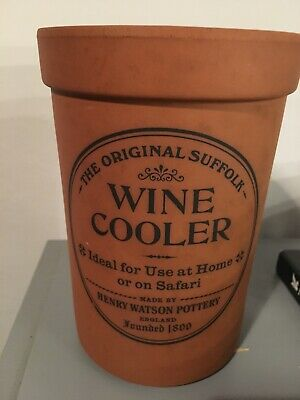 Henry Watsons Wine Bottle Cooler Vintage Retro Terracotta Made In England
