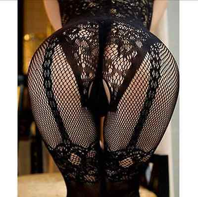 Naughty Women Bodystocking Lingerie Jumpsuit Sexy Underwear Babydoll Catsuit S-L