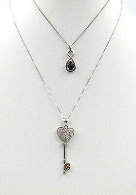 Lot Of Two Vintage Sterling Silver And Gemstone Pendants No Reserve #4543-9