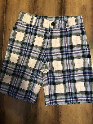 Bottoms Janie And Jack High Sea Style Plaid Madras Shorts Size 6-12 Months Baby & Toddler Clothing