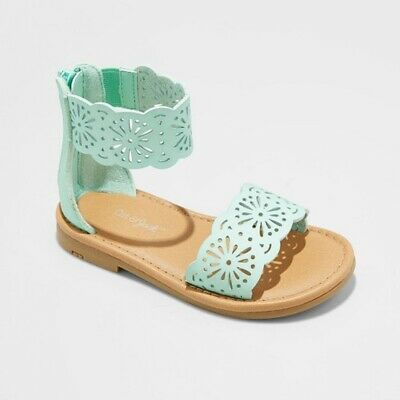 f17caaac4b1998 Cat   Jack By Target Dara Sandals Toddler Girls Size 6 Gladiator Mint Green  NEW