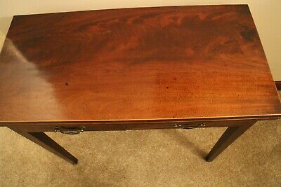Antique Regency  Fold Over Tea Table Occasional Side Table with 2 draws