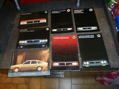 Lot 7+1 Anciens Catalogues LANCIA GT1600 1300 1500 1600 2000 Y10 4wd Gamma Delta