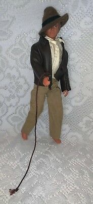 "1981 Kenner 12"" Indiana Jones Raiders Of The Lost Ark Action Figure Whip & Hat"